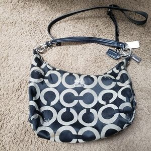Black & Gray Coach Shoulder Bag